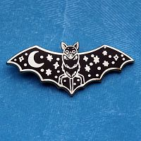 Night-Winged Bat Enamel Pin