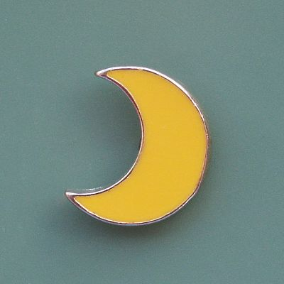 Yellow Moon Enamel Pin