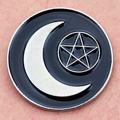 Crescent and Star Enamel Pin