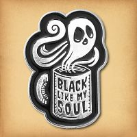 """Black Like My Soul"" Enamel Pin"