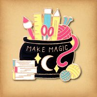"""Make Magic"" Cauldron Enamel Pin"
