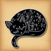 Star Cat Enamel Pin
