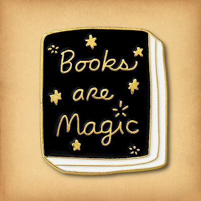 """Books Are Magic"" Enamel Pin"