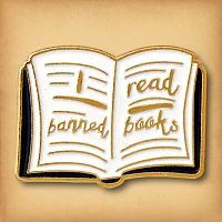 """I Read Banned Books"" Enamel Pin"