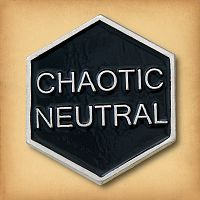 Chaotic Neutral Enamel Pin