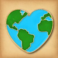 Earth Heart Enamel Pin