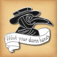 """Wash Your Hands"" Enamel Pin"