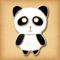 Cute Panda Enamel Pin