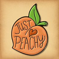 """Just Peachy"" Enamel Pin"