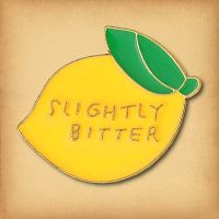 Slightly Bitter Lemon Enamel Pin