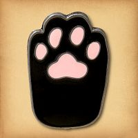 Black Cat's Paw Enamel Pin