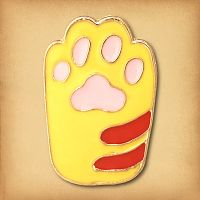 Ginger Cat's Paw Enamel Pin