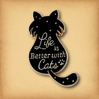 """Better With Cats"" Enamel Pin"