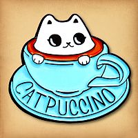 Cat-puccino Enamel Pin
