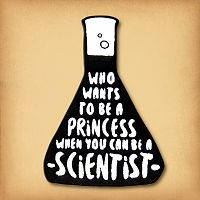 Princess/Scientist Enamel Pin
