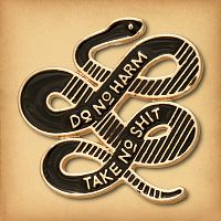 """Do No Harm"" Snake Enamel Pin"