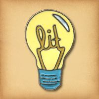 """Lit"" Lightbulb Enamel Pin"