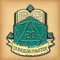 Dungeon Master d20 Enamel Pin