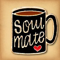 Soul Mate Coffee Mug Enamel Pin