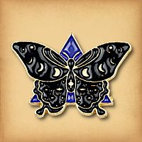 Midnight Moth Enamel Pin