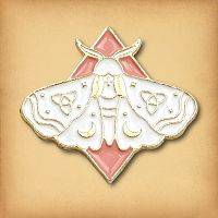 Dawn Moth Enamel Pin