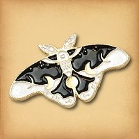 Twilight Moth Enamel Pin