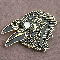Raven Head Enamel Pin