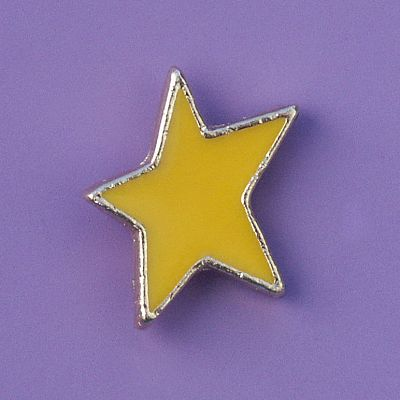 Yellow Star Enamel Pin