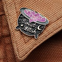 """Sweet Witch"" Cauldron Enamel Pin"