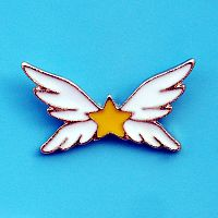 Winged Star Enamel Pin