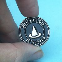 """Witches Do It Better"" Enamel Pin"