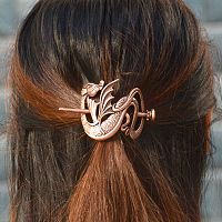 Copper-Colored Dragon Barrette