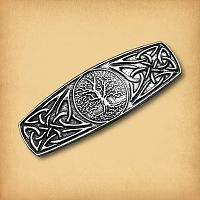 Celtic World Tree Barrette