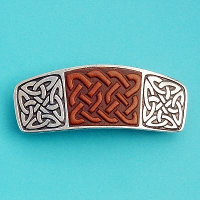 Leather Celtic Barrette
