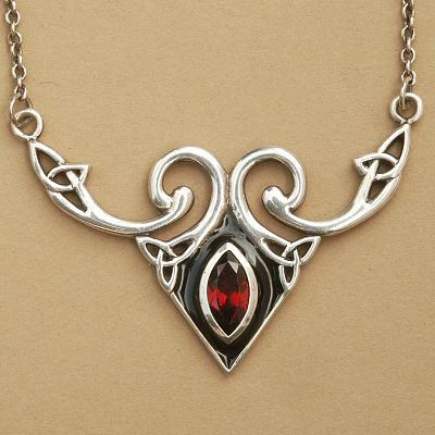 Silver celtic fire necklace at gryphons moon silver celtic fire necklace mozeypictures Image collections