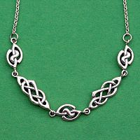 Silver Celtic Link Necklace
