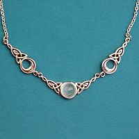 Silver Magical Moon Necklace - White Moonstone