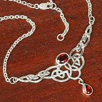 Silver Celtic Passion Necklace