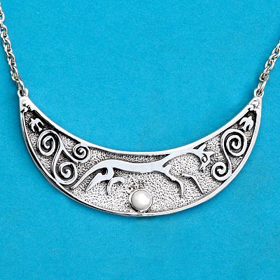 Silver Epona Necklace