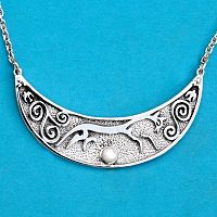 Epona Necklace - Horses, Necklaces, Moonstone Jewelry