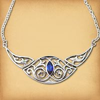 Silver True Blue Necklace