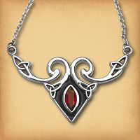 Silver Celtic Fire Necklace