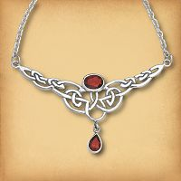 Silver Celtic Passion Necklace - Pagan Jewelry, Celtic Jewelry, Handmade Cloaks, and more.