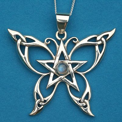 Silver Celtic Butterfly Pendant