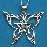 Silver Celtic Butterfly Pendant - Butterflies & Dragonflies, Sterling Silver Pendants - Celtic, Goddess, Fantasy, Pagan, Nature, Witch, Wiccan, Featured on Facebook