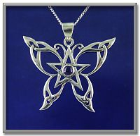 Celtic Butterfly Pendant - Paul Borda, Butterflies and Dragonflies, Celtic Pendants, Claddagh Pendants and much more!