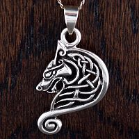 Celtic Dragon Head Pendant - Celtic Pendants, Claddagh Pendants and much more!, Here Be Dragons!, Norse - Viking