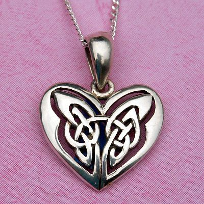 Silver celtic heart pendant at gryphons moon silver celtic heart pendant aloadofball Images