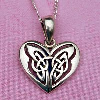 Silver Celtic Heart Pendant - Hearts & Romance, Sterling Silver Pendants - Celtic, Goddess, Fantasy, Pagan, Nature, Witch, Wiccan