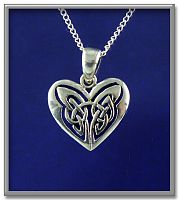 Celtic Heart Pendant - Hearts & Romance, Celtic Pendants, Claddagh Pendants and much more!, Celtic Jewelry, New Lower Silver Prices